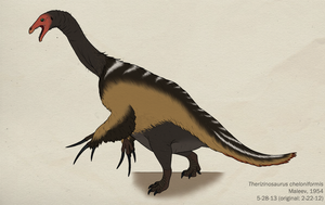 016--THERIZINOSAURUS CHELONIFORMIS by Green-Mamba