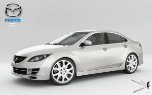 mazda 6 2008 front by lightningsaga