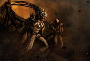 The battle for Aztlan by BalamTzibtah