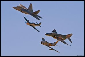 Nellis Heritage Flight 2010 II by AirshowDave