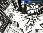 Batman Black and WHite Sketch Cover by bphudson