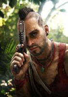 Vaas, chapter 4 the first time i saw his face by RandyDrawings