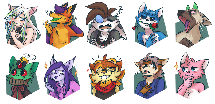 March 2017 Patreon icons by ClefdeSoll