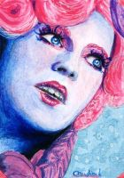 Effie Trinket ACEO by acjub
