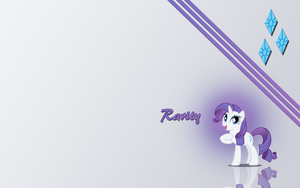 Rarity wallpaper by Fennrick