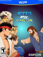 Norris vs Capcom game case art by TheRealSneakers
