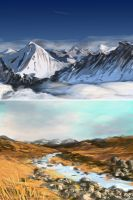 20 minute landscape studies by MikeCoombsArt