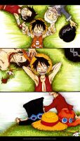 One Piece: Bond of Brothers by elleinead