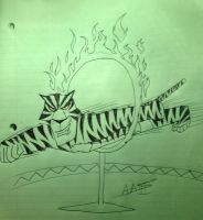 Art Trade: Light the hoop on FIRE!! by AwesomeLatinoArtist
