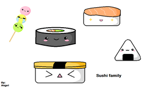 Sushi family by Hot-Angel-Kiss