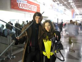 Gambit Shadowcat and Lockheed by gotenks6
