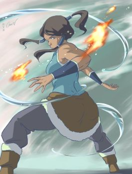 Korra in motion by Oprisnyashka