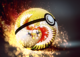 HO-OH into pokeball by Jonathanjo