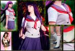 Sailor Moon/Rei Hino/School uniform by Ellumiel