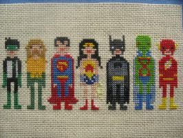Justice League cross stitch by avatarswish