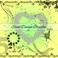 Sweet Design Brushes by Flina-Stock