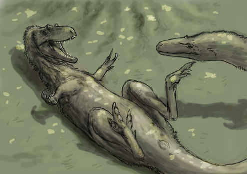 Dryptosaurus by Hyrotrioskjan