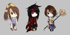 Final Fantasy chibis by Airafleeza