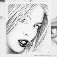 Kylie Minogue Portrait no.2 by whu-wei