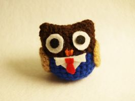 I made a 10th doctor inspired owl by Tessa4244