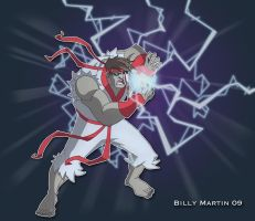 Ultra Combo Hadouken by Bloodzilla-Billy