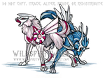 Palkia Dialga Pokemon Wolves by WildSpiritWolf