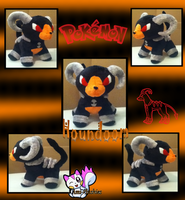 Minky Houndoom :Sold: by Ami-Plushies