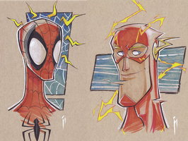 Wizard World Austin Preview:  Spidey and Flash! by GhostHause
