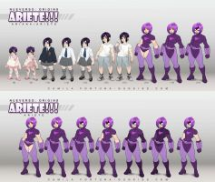 Characters lineup for Nueverso: Origins - Ariete by CamiFortuna
