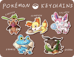 Pokemon Keychains! by Yiamme