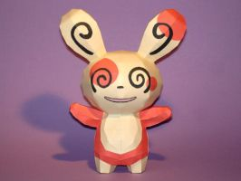Spinda Papercraft by Skele-kitty