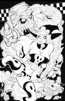 Witchie Boo's world - inks by PatCarlucci