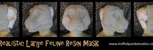 Realistic large feline resin mask base by stuffedpanda-cosplay