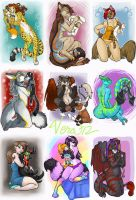 Favorite Plushie Commissions Set 4 by v-e-r-a