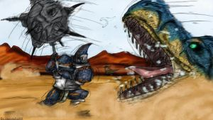 Hunter vs Tigrex by AkatsukiFan505