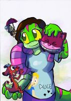 SS: Groovy Gecko and Disney Charas by LeniProduction