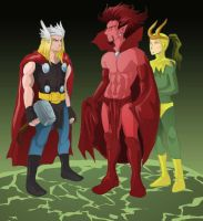 Thor vs. Mephisto by theperfectbromance