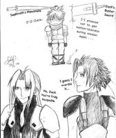 Sepiroth and Zack bully Cloud by luzzy