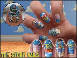 Toy story nails by JawsOfKita-LoveHim