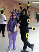 Espeon and Umbreon - Cos-Mo 2014 by Groucho91