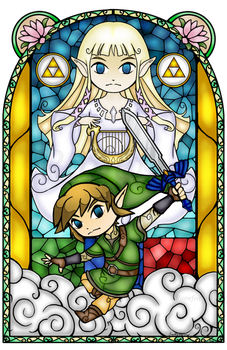 Skyward Sword Stained Glass by Ranefea