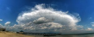 Beach Cloud Panorama by DanDeibler