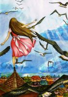 World at Her Feet by HTHI