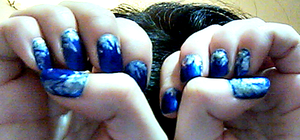 Jack Frost nails by MutePoetess