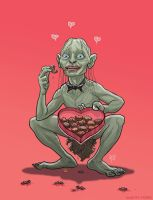 Gollum Valentine's Day card by McQuade