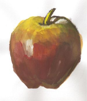 Apple made in gouache. by RGB-Oier-Mania
