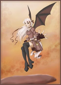 Bat Winged Girl. by madelief