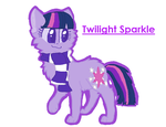 Twilight Sparkle as a Kitty by BugglesBuggies11