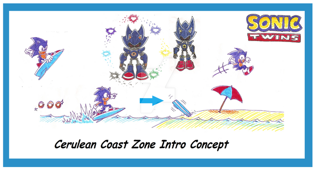 Cerulean Coast Intro + super metal sonic concept by funkyjeremi