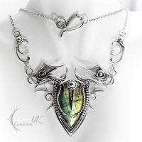 DRACTNAR - silver and labradorite. by LUNARIEEN